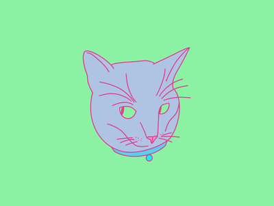 Caturday motion graphics graphic design design kitten cats cat florida tampa illustration illustrator animated gif animation procreate5 procreate 5 procreate