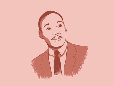 Martin Luther King Jr milk martin luther king jr. procreate illustration