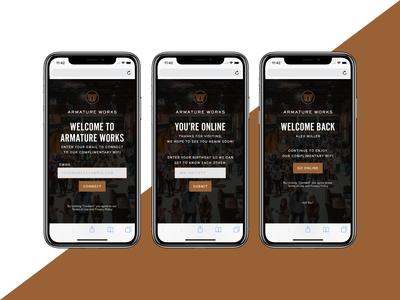 Armature Works Wifi Landing Page UI Design