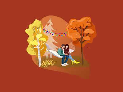 Illustration for PicnicCity graphic design vector web design illustration