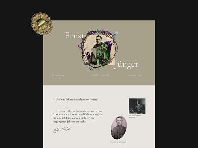 Ernst Jünger longread historical house museum bookstore ux design site design longread about writer ernst jünger longread web design design web ui ux website