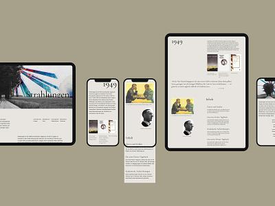 Ernst Jünger longread longread about writer landing web web design ux design ui ux website longread