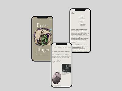 Ernst Jünger longread mobil version landing web mobil design ux design web design website ui ux site mobil version longread