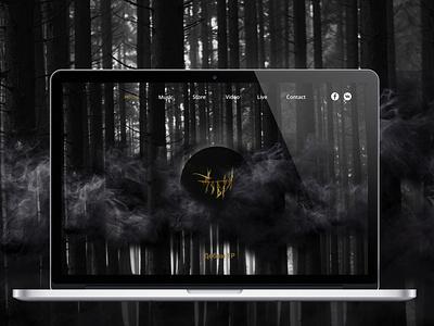 Music band landing/ сайт музыкальной группы logo website web design