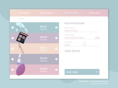 DailyUI 002- Credit Card Checkout