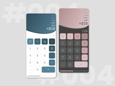 DailyUI 004- Calculator