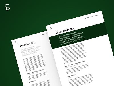 Long Form Content Design blog post blog design composition branding typography articles