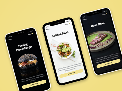 High End Food Delivery UI. fira sans photography typography food app visual design ui food delivery app