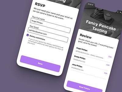 Event UI form design form field form