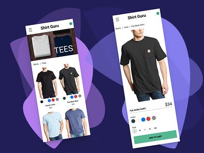 Ecomm Site design composition ecommerce ui hierarchy