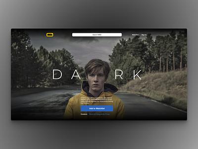 DARK - IMBD Landing Page Redesign layout visual design imdb redesign