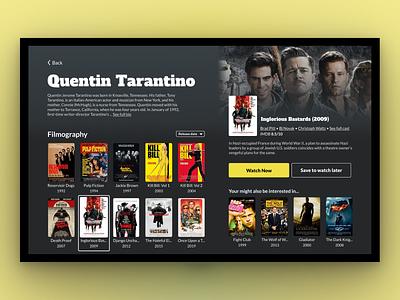 Smart TV Movie App movie app visual design tv ui smart tv
