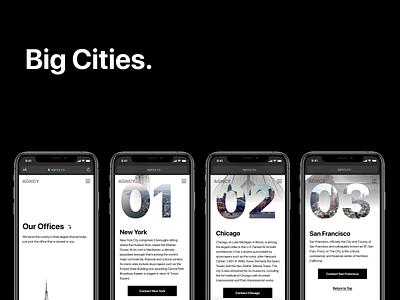 Big Cities blog post blog design typography visual design ui branding composition