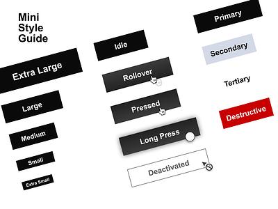 Mini Style Guide design typography branding ui button states button design buttons button style