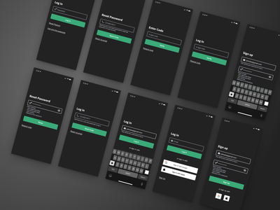 Log In Screen form design ui design dark ui form forms visual design log in