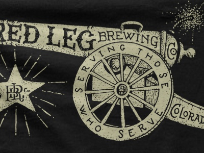 Red leg brewing co. cannon mockup