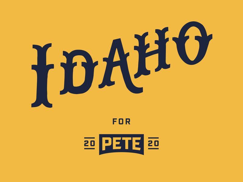 Idaho handlettering idaho 2020 campaign design campaign president