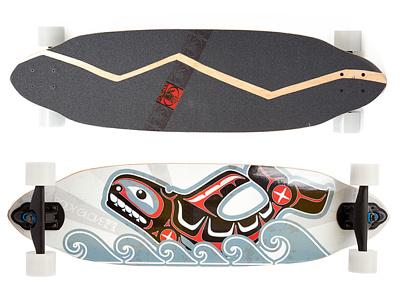 Bodyglove Skate Longboard Design skate illustrator waves longboard graphic design print design product design