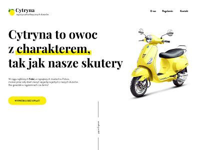 Cytryna desktop landing page ui design web design
