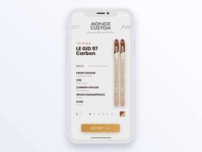 Mobile ski shop shopping card shopping app figma skiing mobile ui mobile interface adobe xd ui