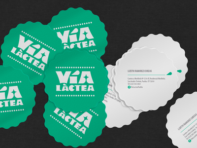 Vía Láctea food logo logotype happystudio graphic design branding brand design