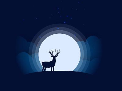 Moonlight design vector illustration graphicdesign