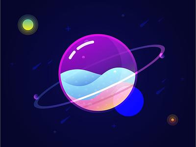 See through planet tutorial colors illustration graphic design