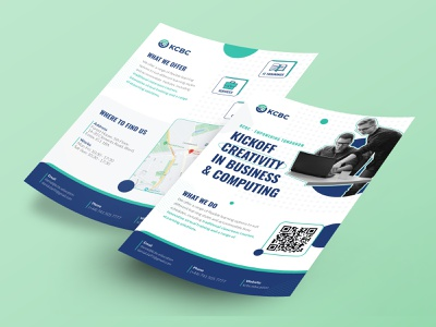 Flyer A5 - Training and courses trust modern graphic design icons map qrcode corporate business creativity illustrator branding typography layout services courses training a5 flyer graphic