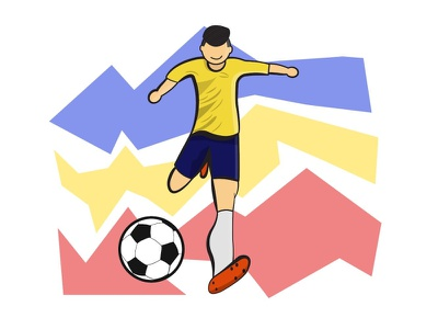 Romania football team at olympic games sketch ball shooting legs player kit olympic games romania football illustration design