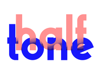 Halftone Lettering