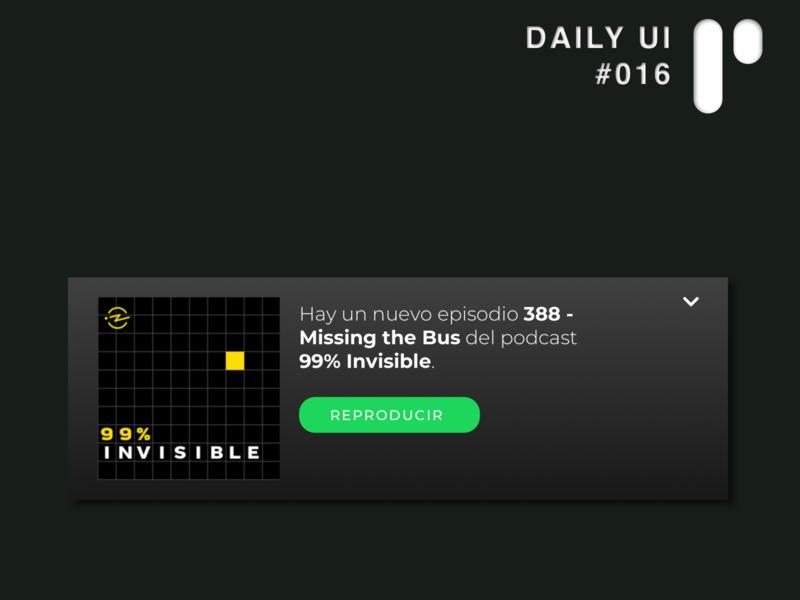 Daily UI Challenge #016 - Pop Up app design app vector dailyuichallenge dailyui digital ui design ui design