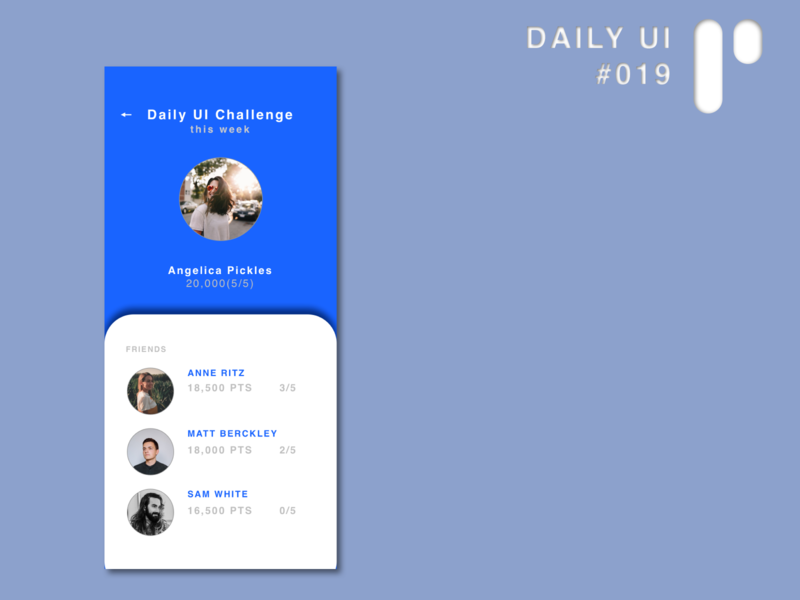 Daily UI Challenge #019 - Leaderboard app design app dailyuichallenge vector ui dailyui digital design ui design