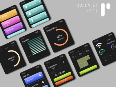 Daily UI Challenge #021 - Home Dashboard