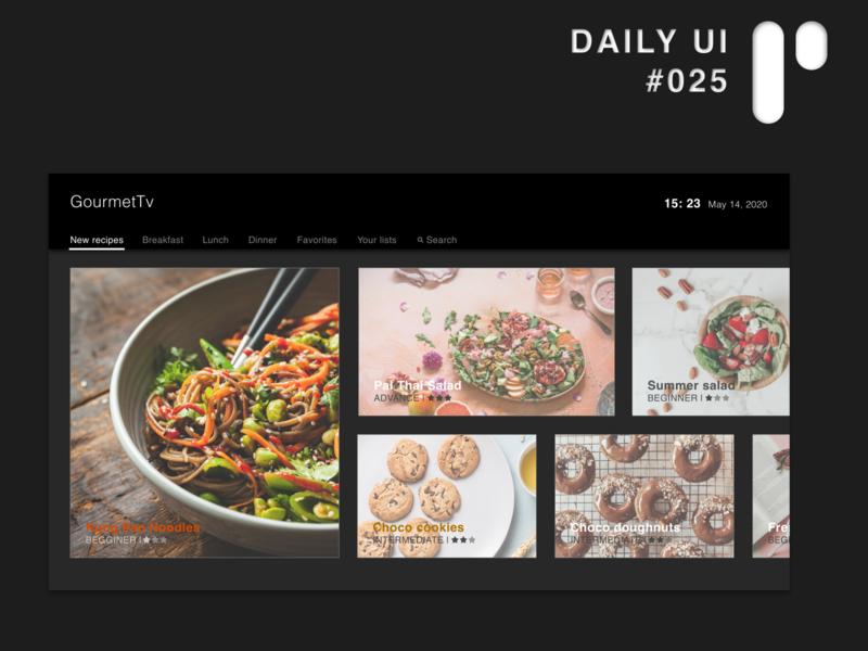 Daily UI Challenge #025 - TV App app design dailyuichallenge dailyui ui digital design ui design