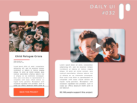 Daily UI Challenge #032 - Crowdfunding Campaign app design vector dailyuichallenge dailyui ui digital design ui design