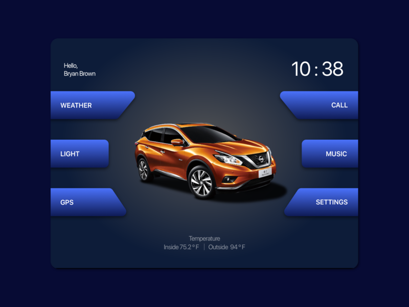 Daily UI 034 - Car interface dailyuichallenge ui dailyui digital design ui design