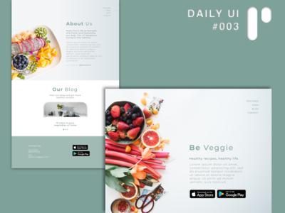 DailyUI Challenge #003 - Landing Page