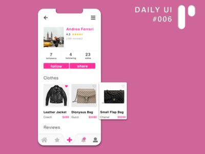Daily UI Challenge #006 - User Profile (GoTrendier redesign)