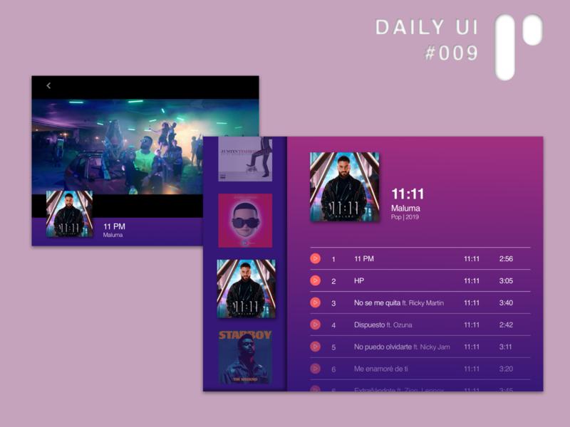 Daily UI Challenge #009 - Music Player web app dailyui ux digital ui design logo illustration ui design