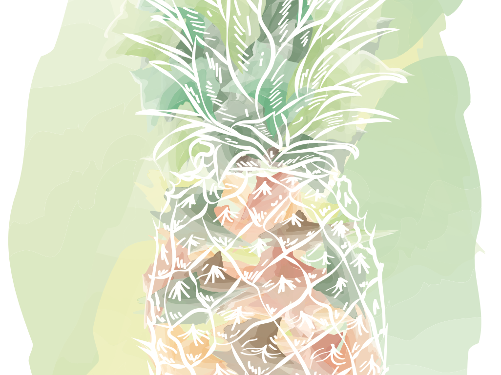 Pineapple vector design illustration