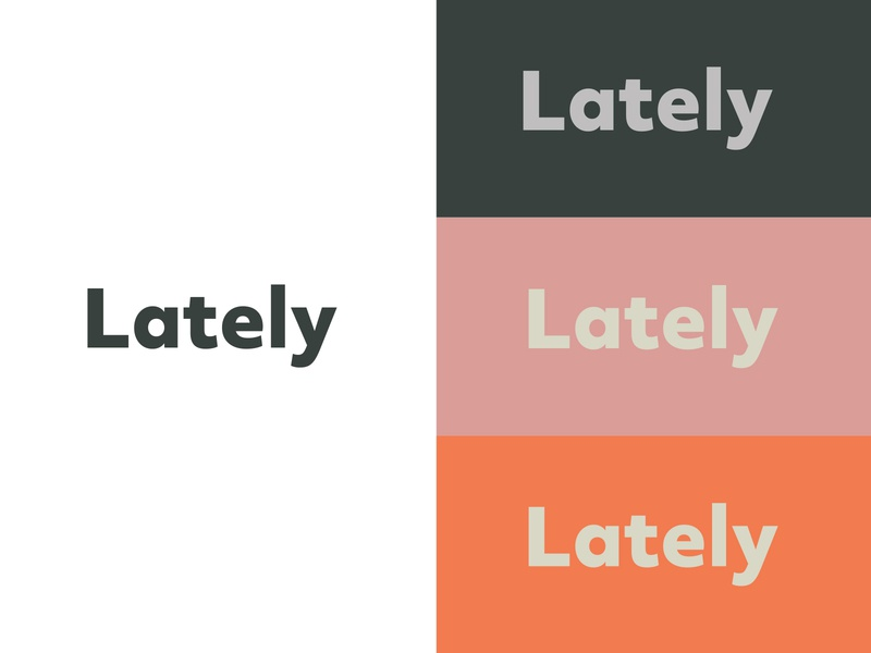 Lately Logo typogaphy logo logo design