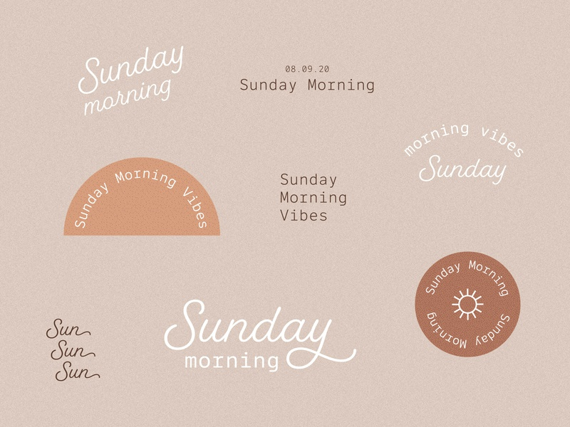 Sunday Morning Motivation vector layout design illustration drawing branding logo handlettering typogaphy