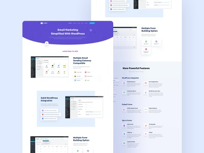 Features Page Design of weMail marketing cool modren interface sent email features page website design ui  ux