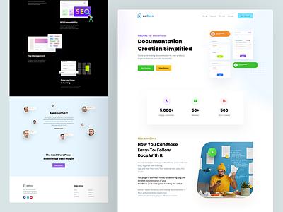 weDocs Website Design wordpress documentation site web page docs illustration latest cool ux design ui