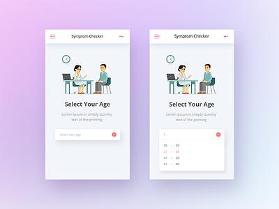 Symptom Checker App cool latest recent design android iphone ux ui app