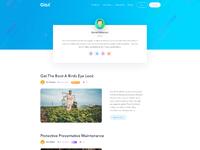 Author page design