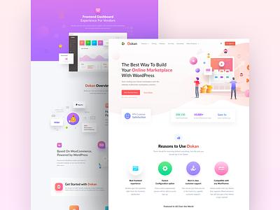 Dokan Website Design wordpress marketplace vendor website ux ui design dokan