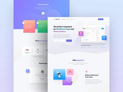 Appsero Website Design developer illustration ux design ui