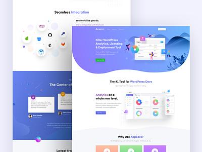 Appsero Website Design analytics ux ui design site web wordpress sales plugin tools developer