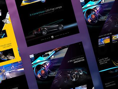 Philips LED X-treme Vision homepage design website vision led philips webdesign web design concept web interface ui